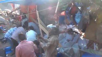 Jenazah Demonstran yg hampir dibakar militer mesir
