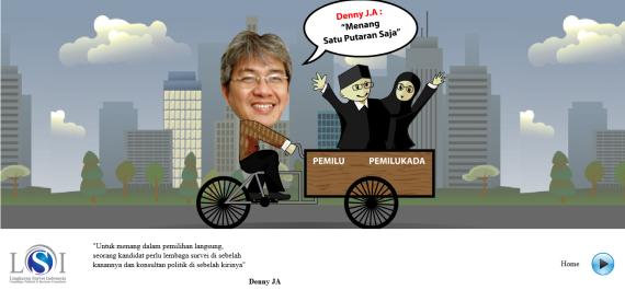 Kita Ketahui Bersama Kalau Denny JA pemilik Lingkaran Survei Indonesia adalah Tim Sukses Jokowi